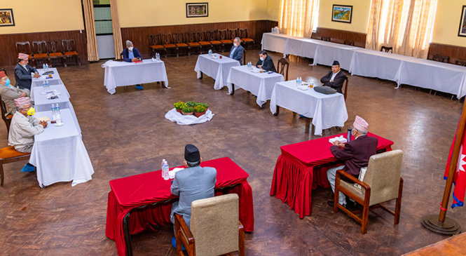 नेकपा को स्थायी कमिटी बैठक सकियो