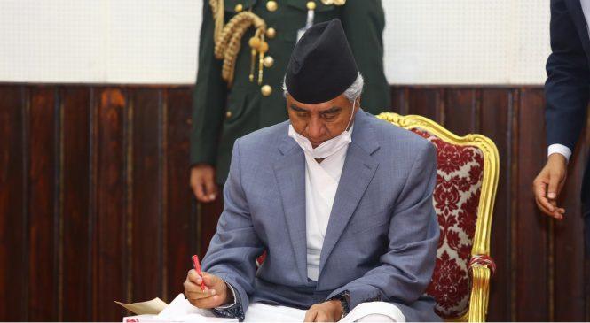संविधानको पूर्ण कार्यान्वयनमा सरकार प्रतिवद्ध : प्रधानमन्त्री देउवा