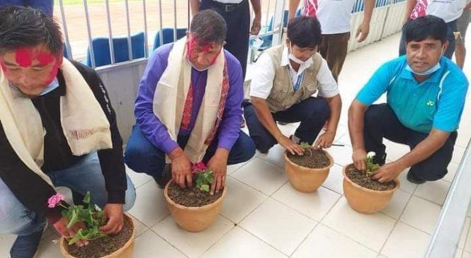 जिल्ला खेलकुद गर्यो लुम्बिनी प्रदेश खेलकुद परिषद सदस्य लाई स्वागत