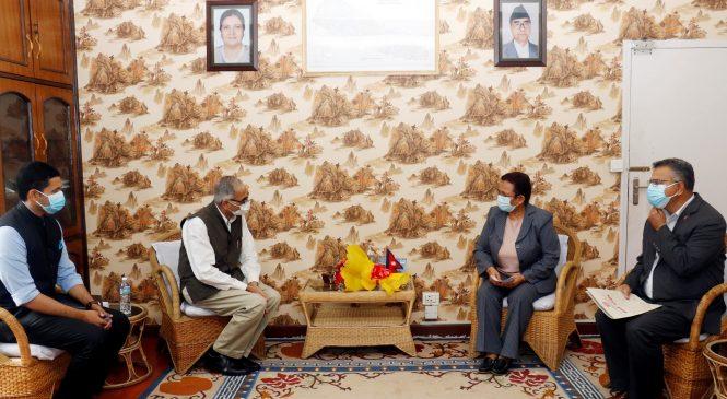 ऊर्जामन्त्री भुसालसँग भारतीय राजदूतको शिष्टाचार भेट